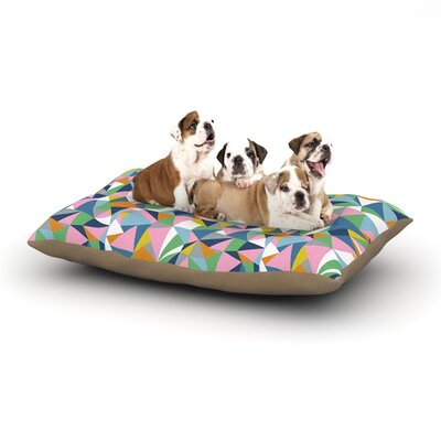 Project M Abstraction Pink Abstract Dog Pillow with Fleece Cozy Top Size: Large (50 W x 40 D x 8 H)