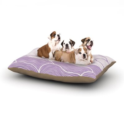 Pom Graphic Design The Lavender Seas Waves Dog Pillow with Fleece Cozy Top Size: Small (40 W x 30 D x 8 H)