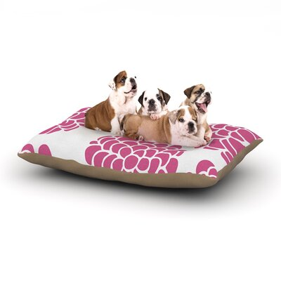 Pom Graphic Design Raspberry Blossoms Magenta Dog Pillow with Fleece Cozy Top Size: Small (40 W x 30 D x 8 H)