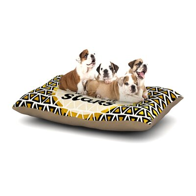 Pom Graphic Design Shine with the Stars Dog Pillow with Fleece Cozy Top Size: Large (50 W x 40 D x 8 H)