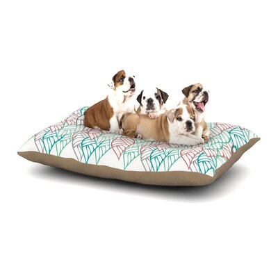 Pom Graphic Design Ethnic Leaves Dog Pillow with Fleece Cozy Top Size: Small (40 W x 30 D x 8 H)