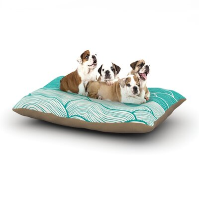 Pom Graphic Design The Calm and Stormy Seas Dog Pillow with Fleece Cozy Top Size: Small (40 W x 30 D x 8 H)