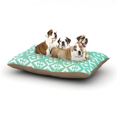 Pom Graphic Design Ancient Tribe Seafoam Dog Pillow with Fleece Cozy Top Size: Small (40 W x 30 D x 8 H)
