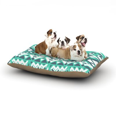 Pom Graphic Design Tribal Simplicity Dog Pillow with Fleece Cozy Top Size: Large (50 W x 40 D x 8 H)