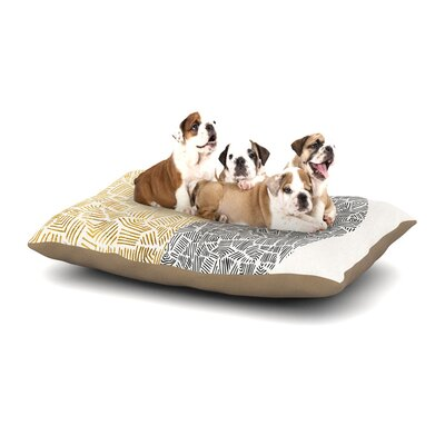 Pom Graphic Design Inca Day & Night Dog Pillow with Fleece Cozy Top Size: Large (50 W x 40 D x 8 H)