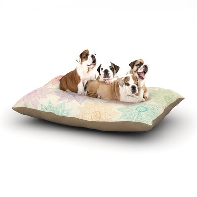 Pom Graphic Design Spring Florals Dog Pillow with Fleece Cozy Top Size: Large (50 W x 40 D x 8 H)