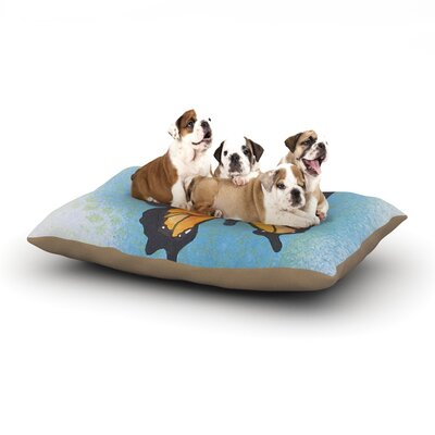 Padgett Mason Summer Flutter Dog Pillow with Fleece Cozy Top Size: Large (50 W x 40 D x 8 H)