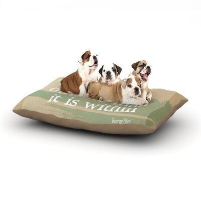 Rachel Burbee Adventure Nature Typography Dog Pillow with Fleece Cozy Top Size: Small (40 W x 30 D x 8 H)