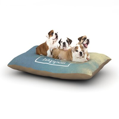 Rachel Burbee Beautiful Things Sky Clouds Dog Pillow with Fleece Cozy Top Size: Large (50 W x 40 D x 8 H)