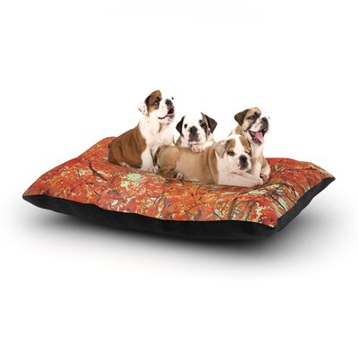 Robin Dickinson Imagine Leaves Dog Pillow with Fleece Cozy Top Size: Large (50 W x 40 D x 8 H)