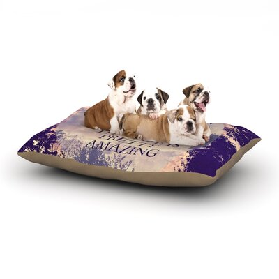Rachel Burbee Pretty Amazing Sky Dog Pillow with Fleece Cozy Top Size: Small (40 W x 30 D x 8 H)