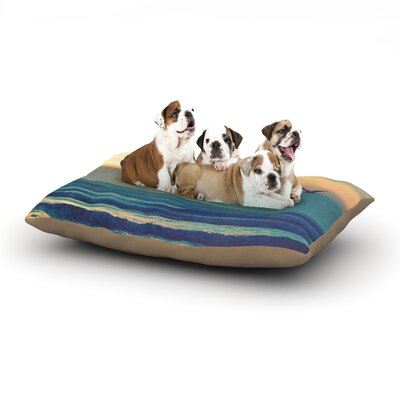 Robin Dickinson Go Somewhere Dog Pillow with Fleece Cozy Top Size: Small (40 W x 30 D x 8 H)