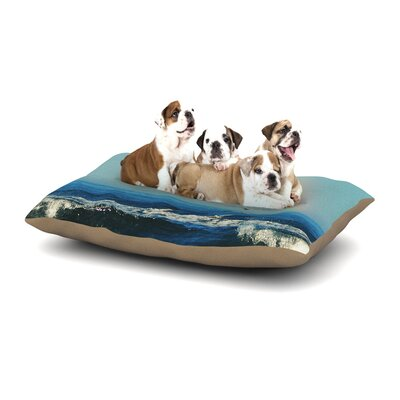 Robin Dickinson Ill Follow Coastal Dog Pillow with Fleece Cozy Top Size: Large (50 W x 40 D x 8 H)
