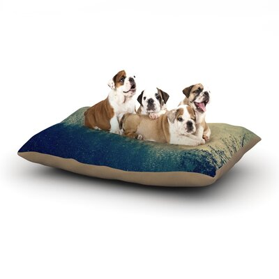 Robin Dickinson Any Road Will Do Mountain Tree Dog Pillow with Fleece Cozy Top Size: Large (50 W x 40 D x 8 H)