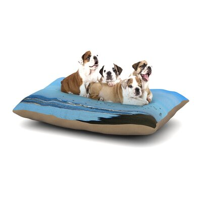 Robin Dickinson Beach Hair Coastal Dog Pillow with Fleece Cozy Top Size: Large (50 W x 40 D x 8 H)