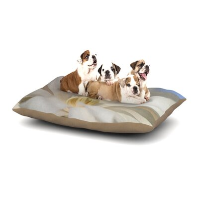 Robin Dickinson First Signs Floral Dog Pillow with Fleece Cozy Top Size: Small (40 W x 30 D x 8 H)