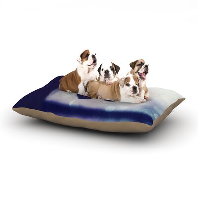 Robin Dickinson Enchanted Butterfly Dog Pillow with Fleece Cozy Top Size: Small (40 W x 30 D x 8 H)