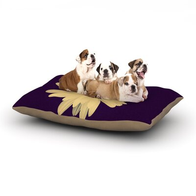 Robin Dickinson Half Crazy Dog Pillow with Fleece Cozy Top Size: Large (50 W x 40 D x 8 H)