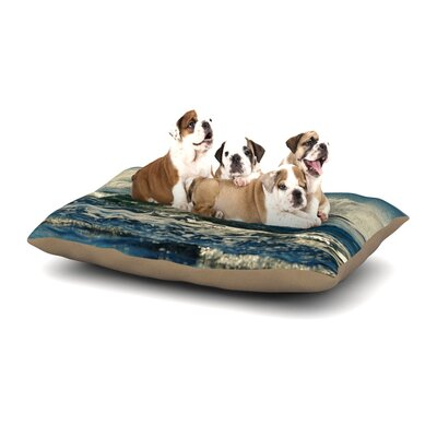 Robin Dickinson Forever Young Coastal Dog Pillow with Fleece Cozy Top Size: Small (40 W x 30 D x 8 H)