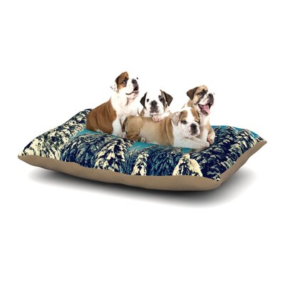 Robin Dickinson I Went to the Woods Dog Pillow with Fleece Cozy Top Size: Large (50 W x 40 D x 8 H)