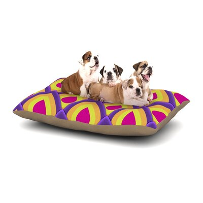 Roberlan Pineapple Dog Pillow with Fleece Cozy Top Size: Large (50 W x 40 D x 8 H)