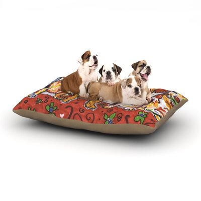 Rebecca Fischer Maksim Murray Enzo Ruby & Willy Daschunds Dog Pillow with Fleece Cozy Top Size: Large (50 W x 40 D x 8 H)