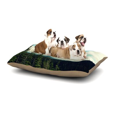Robin Dickinson Life Is... Landscape Typography Dog Pillow with Fleece Cozy Top Size: Small (40 W x 30 D x 8 H)