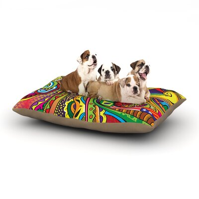 Roberlan Doodle Abstract Dog Pillow with Fleece Cozy Top Size: Large (50 W x 40 D x 8 H)