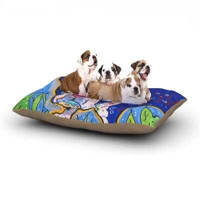 Rebecca Fischer Addy Mae Pug Terrier Dog Pillow with Fleece Cozy Top Size: Small (40 W x 30 D x 8 H)