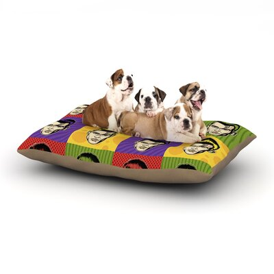 Roberlan Johnny Depop Pop Art Dog Pillow with Fleece Cozy Top Size: Large (50 W x 40 D x 8 H)