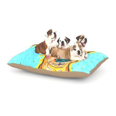 Rebecca Fischer Tanner Terrier Dog Pillow with Fleece Cozy Top Size: Small (40 W x 30 D x 8 H)
