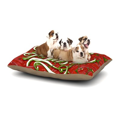 Roberlan Buenos Dias Good Day Dog Pillow with Fleece Cozy Top Size: Large (50 W x 40 D x 8 H)