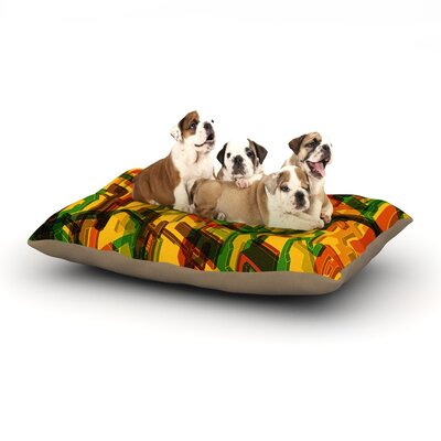Roberlan Three Dee Dog Pillow with Fleece Cozy Top Size: Small (40 W x 30 D x 8 H)