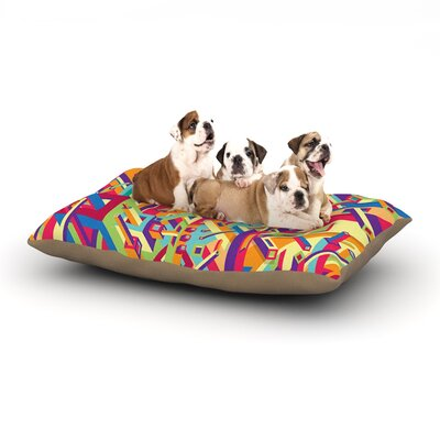 Roberlan Buracos Abstract Dog Pillow with Fleece Cozy Top Size: Large (50 W x 40 D x 8 H)