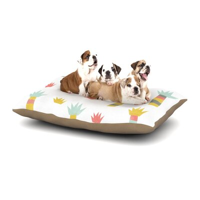 Alik Arzoumanian Tropical Dog Pillow with Fleece Cozy Top Size: Small (40 W x 30 D x 8 H)