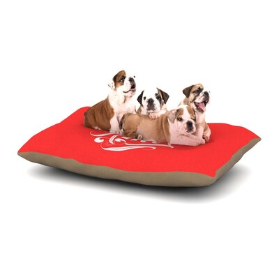 Roberlan 'Amor' Dog Pillow with Fleece Cozy Top Size: Large (50