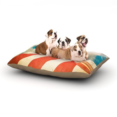 Ann Barnes The Big Top Dog Pillow with Fleece Cozy Top Size: Small (40 W x 30 D x 8 H)