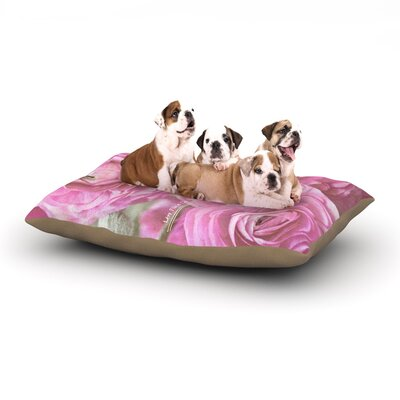 Ann Barnes Paris Postcard Flowers Dog Pillow with Fleece Cozy Top Size: Small (40 W x 30 D x 8 H)