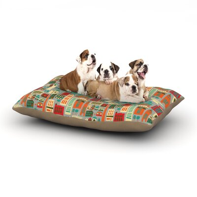 Allison Beilke My Fair Milwaukee City Dog Pillow with Fleece Cozy Top Size: Large (50 W x 40 D x 8 H)