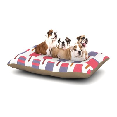 Alik Arzoumanian Pop Dog Pillow with Fleece Cozy Top Size: Small (40 W x 30 D x 8 H)