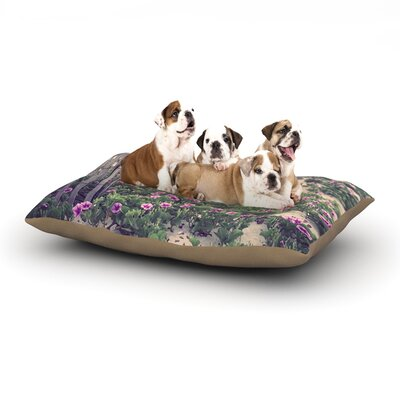 Ann Barnes Morning at the Beach Flowers Dog Pillow with Fleece Cozy Top Size: Large (50 W x 40 D x 8 H)