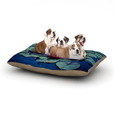 Ann Barnes Twilight Water Lily Dog Pillow with Fleece Cozy Top Size: Large (50 W x 40 D x 8 H)