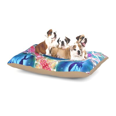 Noonday Design Peachy Keen Wildflowers Dog Pillow with Fleece Cozy Top