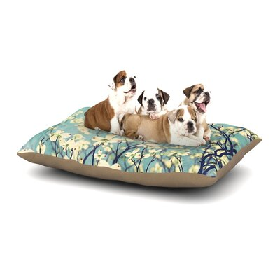 Ann Barnes Pure Floral Dog Pillow with Fleece Cozy Top Size: Large (50 W x 40 D x 8 H)
