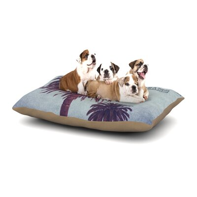 Ann Barnes California Dreams Dog Pillow with Fleece Cozy Top Size: Small (40 W x 30 D x 8 H)
