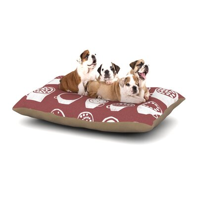 Alik Arzoumanian Coffee Ring Dog Pillow with Fleece Cozy Top Size: Large (50 W x 40 D x 8 H)