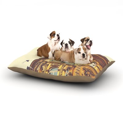 Ann Barnes Prague Morning Building Dog Pillow with Fleece Cozy Top Size: Small (40 W x 30 D x 8 H)