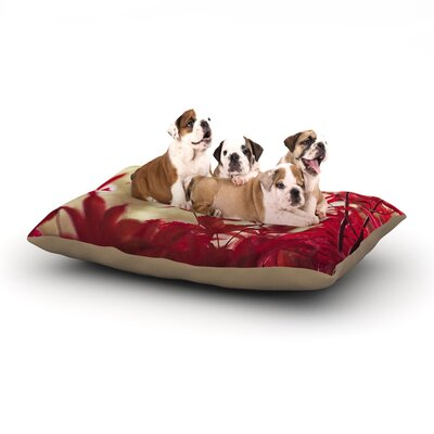 Ann Barnes September Afternoon Leaves Dog Pillow with Fleece Cozy Top Size: Small (40 W x 30 D x 8 H)