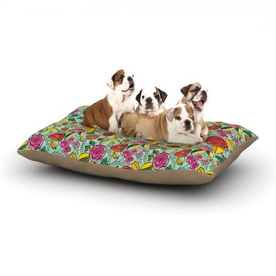Allison Beilke Garden Variety Flowers Dog Pillow with Fleece Cozy Top Size: Small (40 W x 30 D x 8 H)