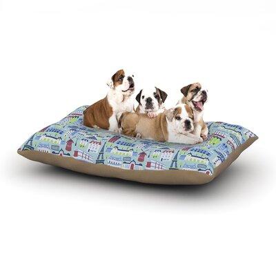 Allison Beilke JAdore Paris France Dog Pillow with Fleece Cozy Top Size: Large (50 W x 40 D x 8 H)